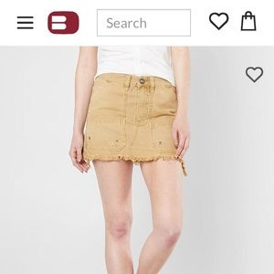 Free People Denim Mini Skirt. Size 28